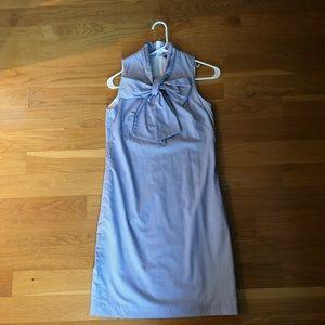 Bow front sleeveless dress.